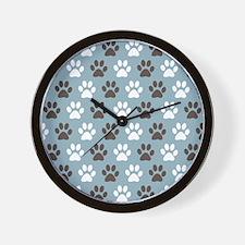 Paw Print Pattern Wall Clock