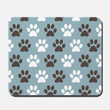 Paw Print Pattern Mousepad