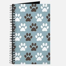 Paw Print Pattern Journal