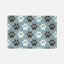 Paw Print Pattern Rectangle Magnet