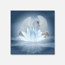 "Swan Song Fantasy Art Square Sticker 3"" X 3&q"