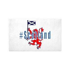 Hashtag Scotland Blue Tartan 3'x5' Area Rug