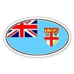 Fiji Oval Sticker