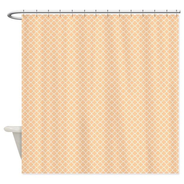 park avenue peach shower curtain by shopkrw