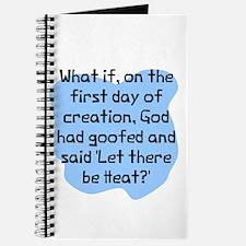 God had goofed Journal