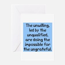 unwilling unqualified Greeting Cards (Pk of 10