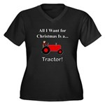 Red Christma Women's Plus Size V-Neck Dark T-Shirt