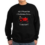 Red Christmas Tractor Sweatshirt (dark)