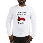 Red Christmas Tractor Long Sleeve T-Shirt