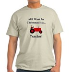 Red Christmas Tractor Light T-Shirt