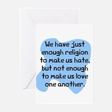 Enough religion to hate Greeting Cards (Package of