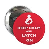 Keep calm and latch on pins 100 Pack