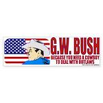 Cowboy G.W. Bush Bumper Sticker