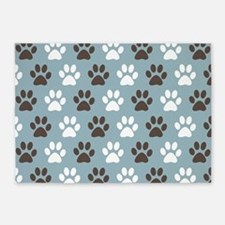 Paw Print Pattern 5'x7'Area Rug