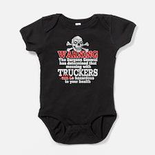 Trucker Warning Baby Bodysuit