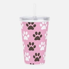 Paw Print Pattern Acrylic Double-wall Tumbler