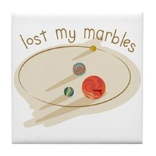 Lost My Marbles Tile Coaster