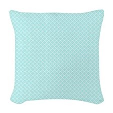 Park Avenue Aqua Woven Throw Pillow