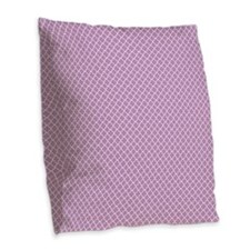 Park Avenue Purple Burlap Throw Pillow