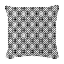 Park Avenue Slate Woven Throw Pillow