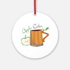 Apple Cider Ornament (Round)
