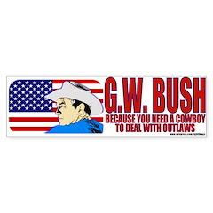 Cowboy G.W. Bush Bumper Bumper Sticker