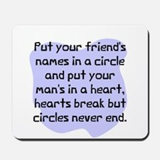 Friends name in circle Mousepad