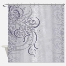 Vintage Rococo Gray Shower Curtain