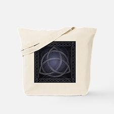 Black Celtic Dragon Tote Bag