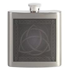 Black Celtic Dragon Flask