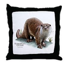 European Otter Throw Pillow