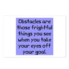 Obstacles are those Postcards (Package of 8)