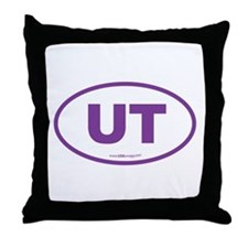 Utah UT Euro Oval Throw Pillow