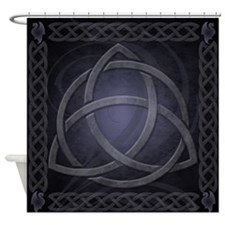 Black Celtic Dragon Shower Curtain