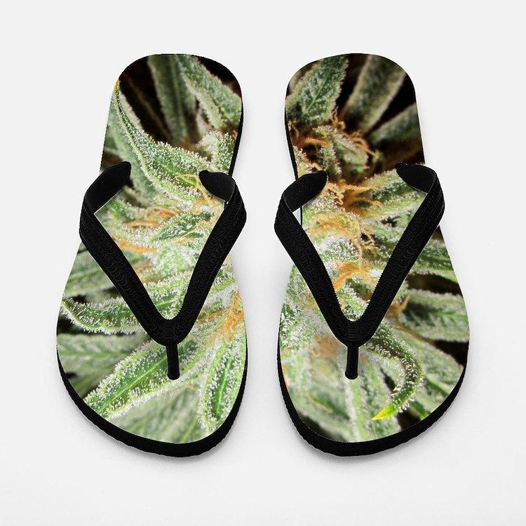 Cannabis Sativa Flower Flip Flops
