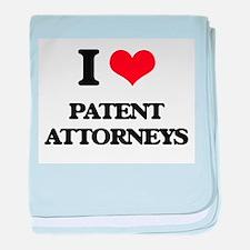 I love Patent Attorneys baby blanket