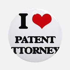 I love Patent Attorneys Ornament (Round)