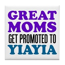 Promoted To YiaYia Drinkware Tile Coaster
