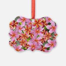 Pink Plumeria Flowers Ornament