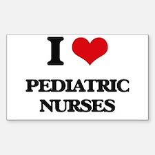 I love Pediatric Nurses Decal