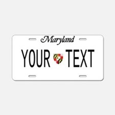 Maryland Custom Aluminum License Plate