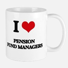I love Pension Fund Managers Mugs