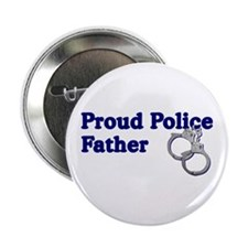 Proud Police Father Button