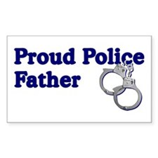Proud Police Father Rectangle Decal