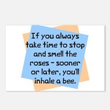 Always take time smell Postcards (Package of 8)
