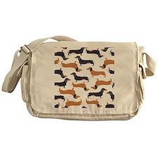 Cute Dachshunds Messenger Bag
