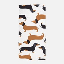 Cute Dachshunds Beach Towel