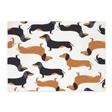 Cute Dachshunds 5'x7'Area Rug