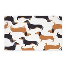 Cute Dachshunds 3'x5' Area Rug
