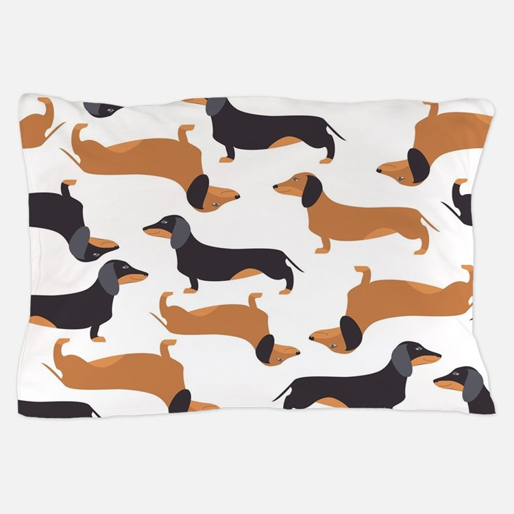 Cute Dachshunds Pillow Case